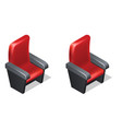 cinema red armchair isometric icons with shadow vector image