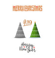 concept of christmas trees modern flat style vector image