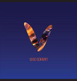 corporate logo letter v vector image vector image