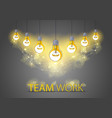 creative team concept group five shining light vector image vector image
