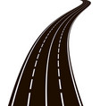 curved road vector image vector image
