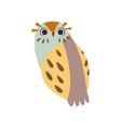 cute adorable owl bird cartoon vector image vector image