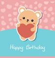 cute bear of cute bear vector image vector image
