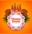 decorated onathappan for happy onam festival of vector image vector image