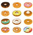 Delicious Donuts Collection vector image vector image