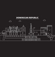 dominican republic silhouette skyline dominican vector image vector image