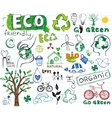 Ecology drawings vector image