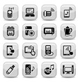 electronic devices icons set vector image vector image