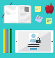 Flat concepts for education online tutorials rese vector image