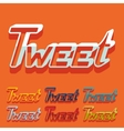 Flat design tweet vector image