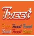 Flat design tweet vector image vector image