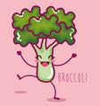 fresh broccoli vegetable character vector image vector image