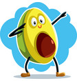 funny dabbing avocado cartoon vector image