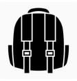 glyph beautiful baggage icon vector image vector image