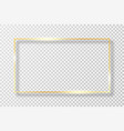 golden frame in rectangle shape with light effect vector image vector image