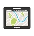 gps map app icon vector image