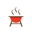 grill barbecue icon on white background vector image