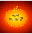 Halloween pumpkins from strained threads vector image vector image