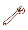 Hand Drawn Screw Driver vector image vector image