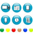 home electronics and equipment icons vector vector image vector image