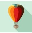 Hot air balloon in flat design style vector image