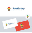 ice cream logotype with business card template vector image vector image