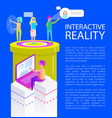 interactive reality effects vector image vector image