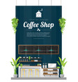 interior background modern coffee shop vector image vector image