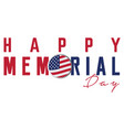 isolated memorial day label vector image