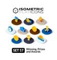 Isometric flat icons set 57 vector image vector image