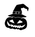 jack-o-lantern silhouette vector image vector image