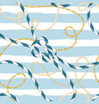 nautical seamless pattern marine rope knots chains vector image vector image