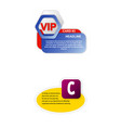 paper sticker infografics business element icons vector image vector image