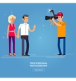 Photographer and videographer vector image vector image