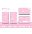 pink business card concept design for fashion vector image vector image