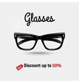Realistic glasses sale banner vector image