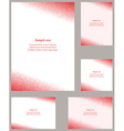 Red square mosaic page corner template set vector image vector image