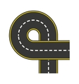 road style isolated icon design vector image