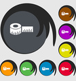 Roulette construction icon sign Symbols on eight vector image vector image