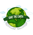 save earth icon vector image vector image