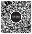 Seamless Cross Jumble Mosaic Pattern Collection vector image vector image