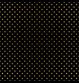seamless polka dot black pattern vector image vector image