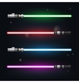 Set light swords futuristic from star war shiny vector image