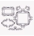 Set of frames and borders vector image vector image