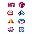 Set of letter E logo Branding Identity Corporate vector image vector image