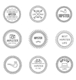 Set of outline emblems vector image