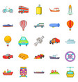 shipping icons set cartoon style vector image vector image