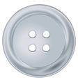 silver round sewing button vector image vector image