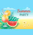 summer party cocktail party vector image vector image