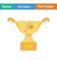 Tennis cup icon vector image